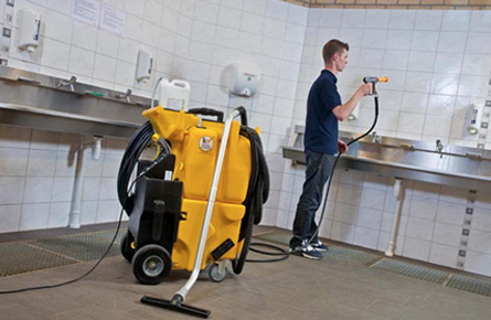 The cleaning process with an equipment